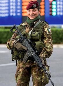 Female Italian soldier