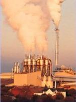 A factory producing smoke.