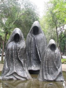 Statues of ghosts