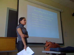 Manuscript style presentation