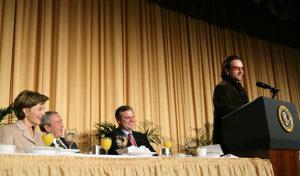 Bono speaking at National Prayer Breakfast