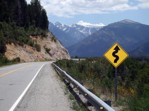 Road curves ahead
