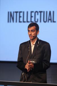 Man giving a speech.