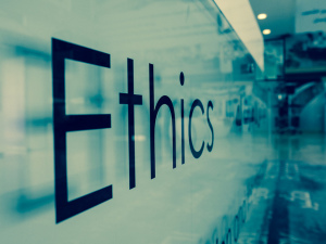 Ethics Sign on Wall