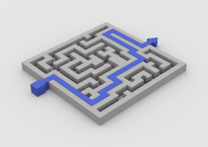 Maze with Solution