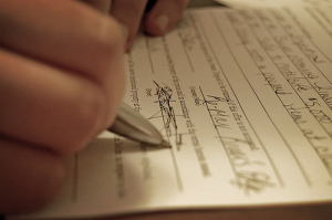 Person Signing Document