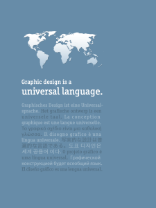 Graphic Design is a Universal Language