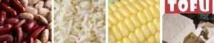 Beans, Rice, Corn, Tofu
