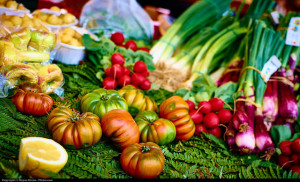 tomatoes and vegetables
