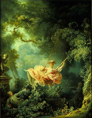 Jean-Honoré Fragonard, The Swing, oil on canvas, 1767 (Wallace Collection, London)