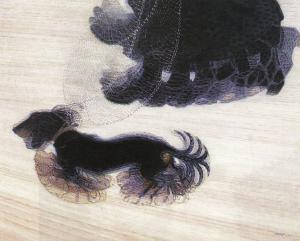 "Giacomo Balla, Dynamism of a Dog on a Leash, 1912, oil on canvas, 35 1/2 x 43 1/4 "" (Albright-Knox Art Gallery, Buffalo)"