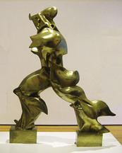 """Umberto Boccioni,Unique Forms of Continuity in Space,1913 (cast 1931), bronze, 43 7/8 x 34 7/8 x 15 3/4"""" (MoMA)"""