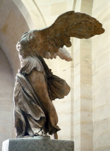 Nike of Samothrace, marble, c. 190 B.C.E. (Louvre, Paris)
