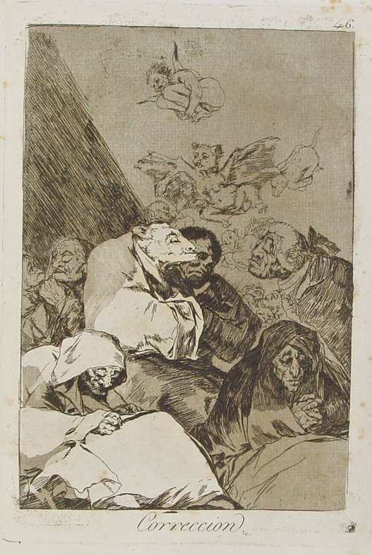 Francisco Goya, Correccion, 1799. Etching on paper.