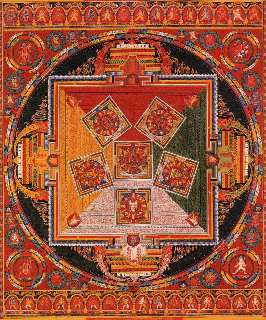 Tibetan Mandala of the Six Chakravartins, c. 1429-46. Central Tibet (Ngor Monestary).
