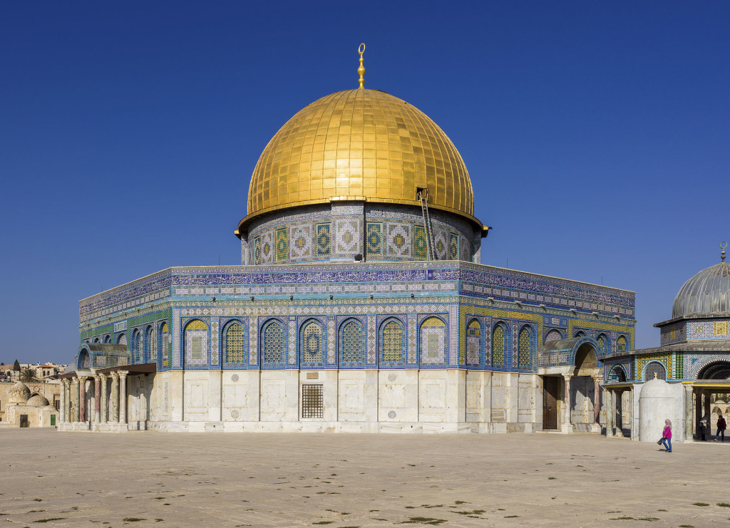The Dome of the Rock, on the Temple Mount,  in the Old City of Jerusalem