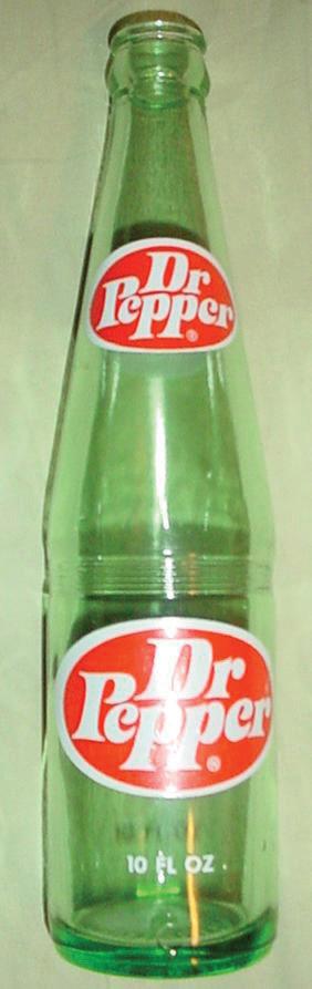 Image of glass Dr. Pepper bottle