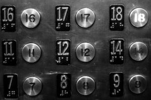 elevator panel no 13th floor