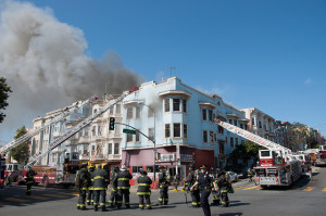 SFFD fights four alarm fire