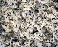 Rock with white, black, gray, and brown speckles.