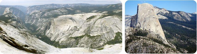 Um grande canyon formado por granito suave e leve