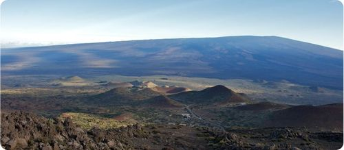 Fotografia do vulcão de Mauna Loa