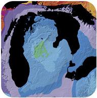 Diagrama da bacia centrado em Michigan