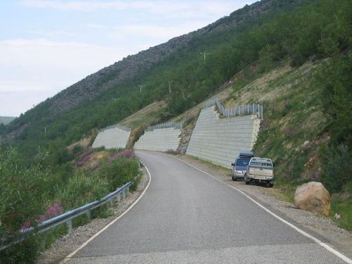 Uma parede de rocha como descrito