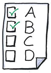 Multiple choice check box clip art