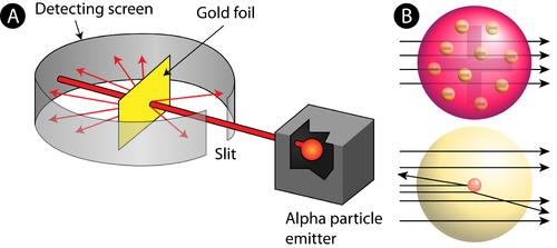 Rutherfords atomic model chemistry for non majors picture of rutherfords gold foil experiment ccuart Image collections