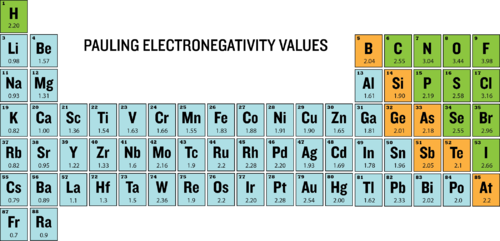 Periodic trends electronegativity chemistry for non majors pauling electronegativity values of the periodic table urtaz Gallery