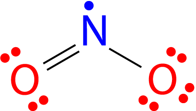 Nitrogen dioxide has an odd number of electrons