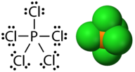 Phosphorus pentachloride has an expanded octet