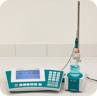 A pH meter can be used for rapid, accurate determinations of pH