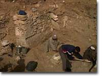 An Egyptian dig site