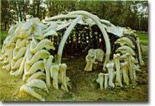 Mammoth hunter hut