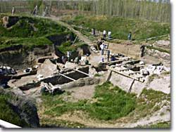 Excavation site at Çatal Hüyük