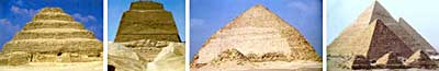 The progression of pyramids through the dynasties