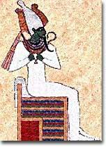 Osiris, the Egyptian god of the dead