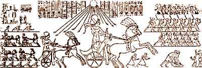 Queen Nefertiti on her chariot