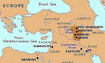 The growth of the Assyrian Empire