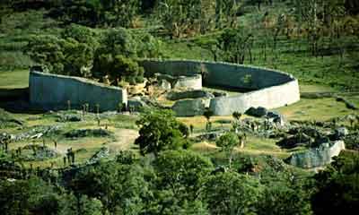 The ruins of Great Zimbabwe