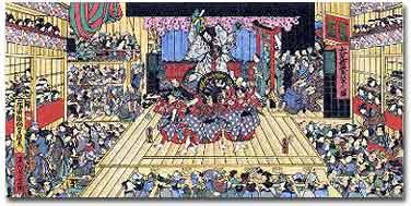 Kabuki theater, mid-Edo period