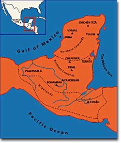 The Maya homeland at its height