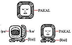 The Maya writing system