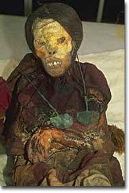 A 500-year-old Inca sacrificial mummy
