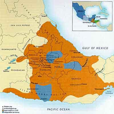 The Aztec empire, c. 1519