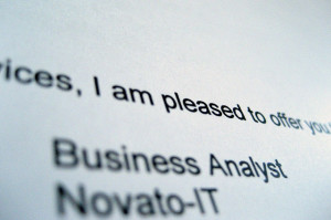 text of a job offer letter