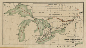 Map of US Great Lakes