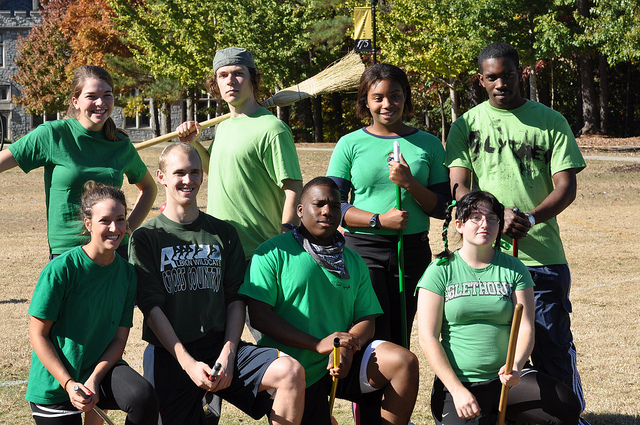 Campus team posed outdoors